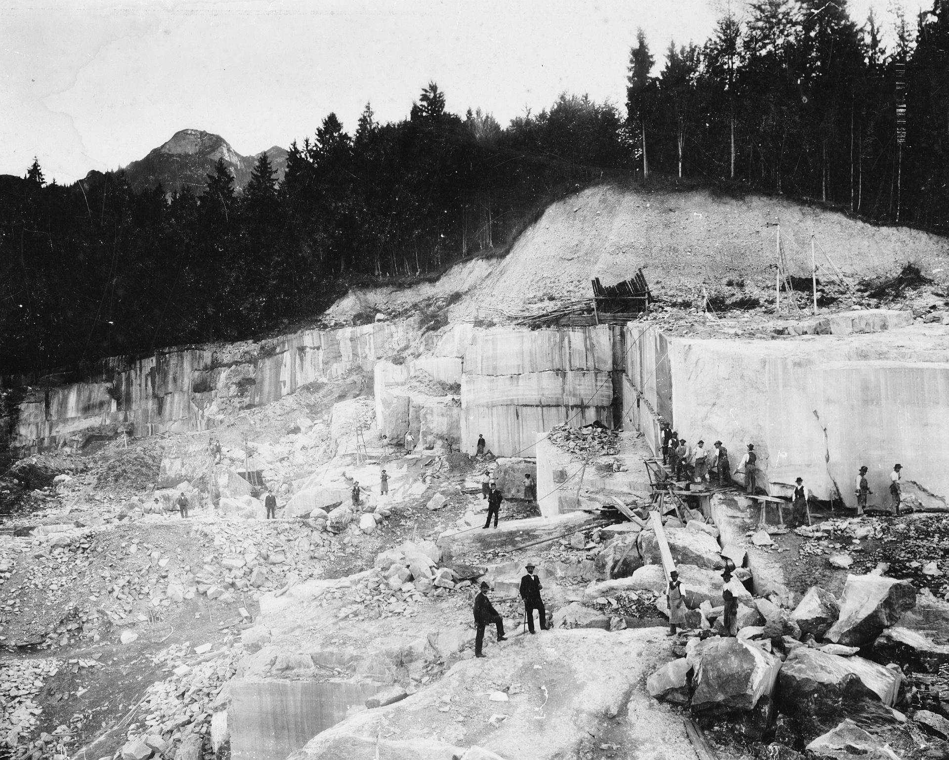 Steinbruch Untersberg, um 1900